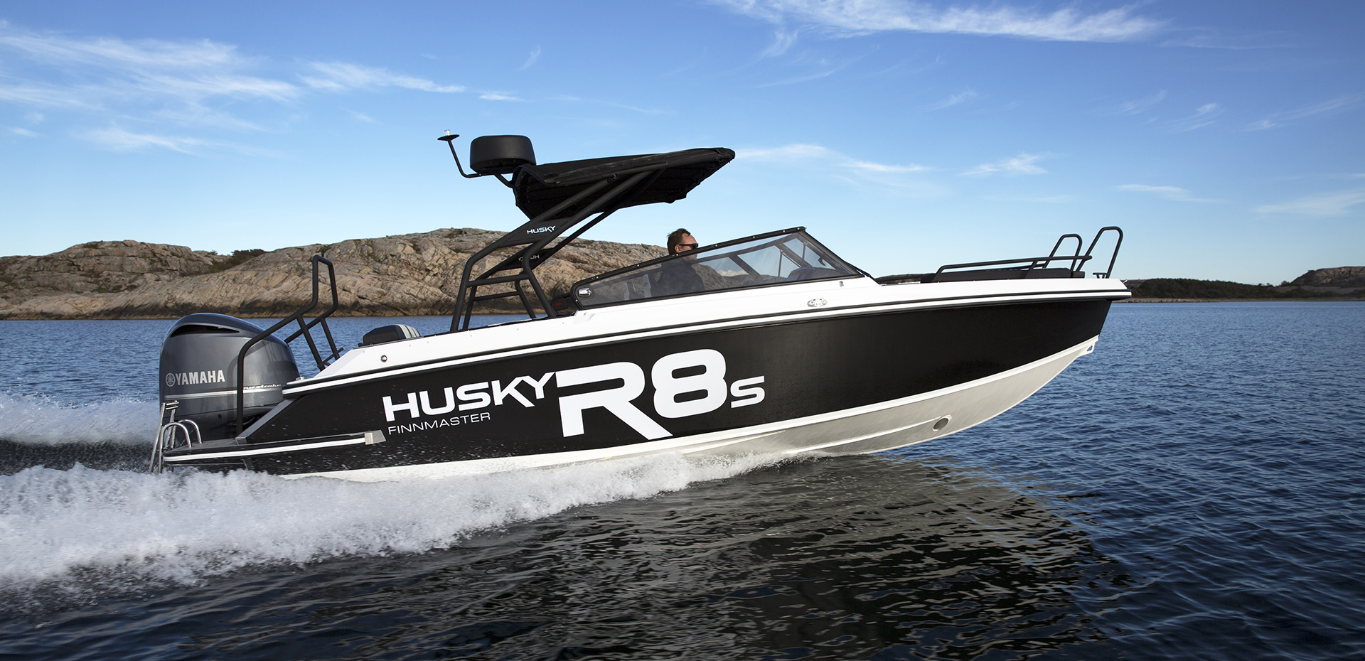 Aluminium Boat Finnmaster Husky R8s - The eye catcher at sea.